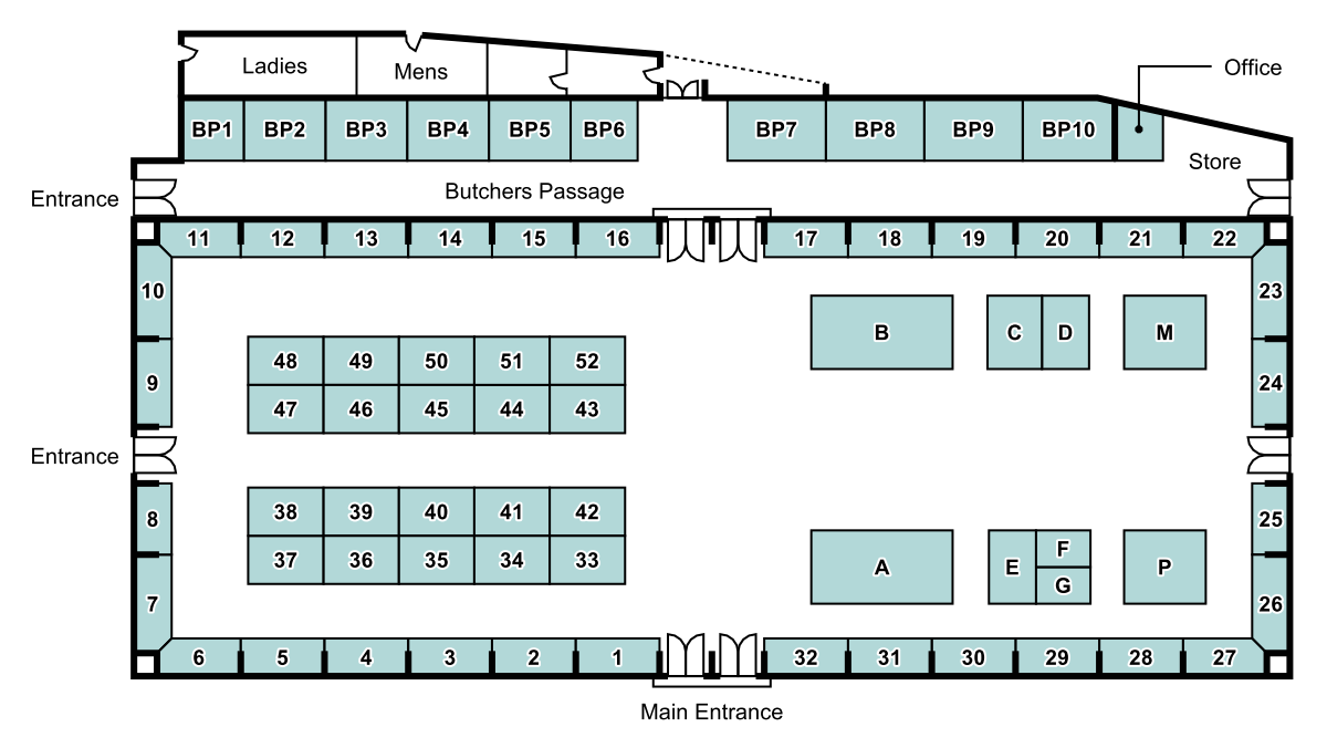 Central Market - Stall Map