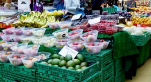Fruit and vegetables for sale