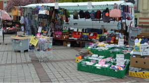 Handbag stall outdoors in City Square